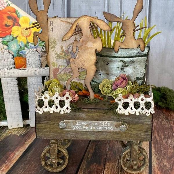Bunny Hop 3D Garden Scene - By Tami Bastiaans