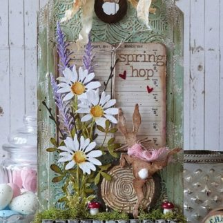 Spring Hop Home Decor Tag using Tim Holtz ®designs! - by Emma Williams