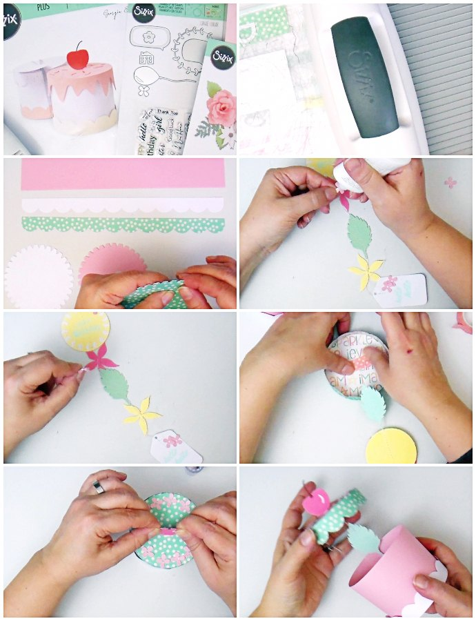 Cake Box: Paper Garland in a Box Birthday Card - VIDEO
