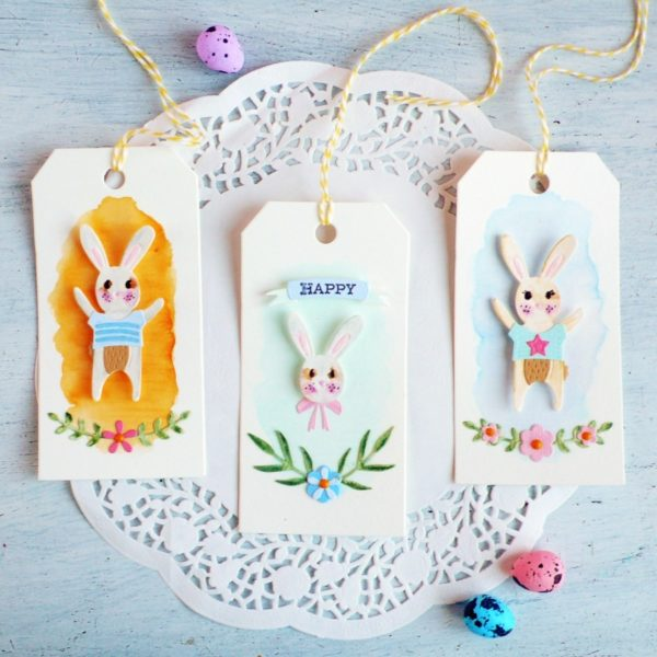 Easter Celebration Watercolor Tags - VIDEO