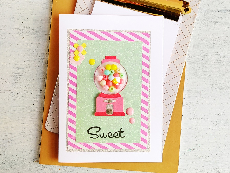 Gumball shaker card with Dimensional Dome - VIDEO
