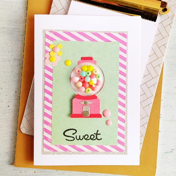 Gumball shaker card with Dimensional Domes - VIDEO