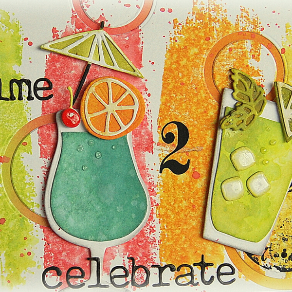 Happy Hour Celebration Card By Kath Stewart