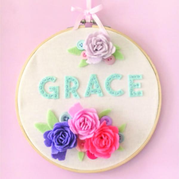 Soft Craft Name Hoop