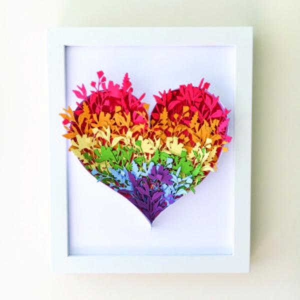 Papercraft Rainbow Heart