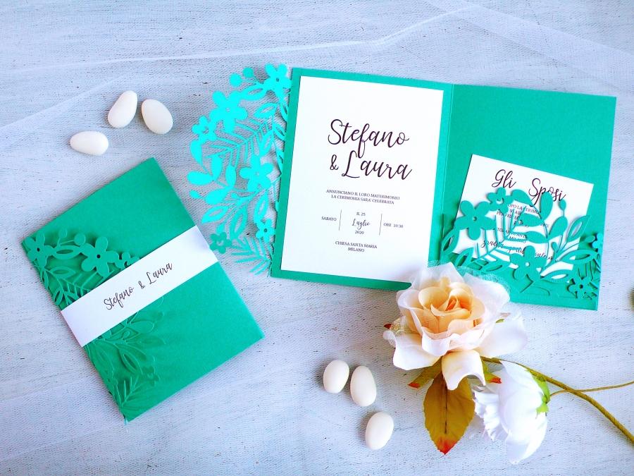 DIY Elegant Teal Wedding invitations