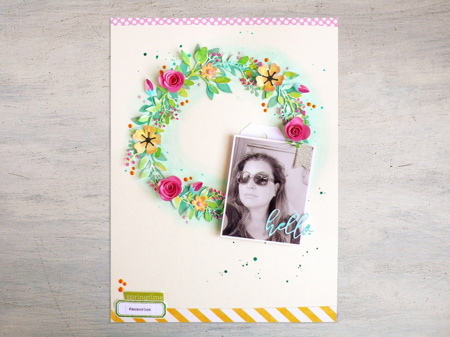 Scrapbook Page Idea: Spring Wreath