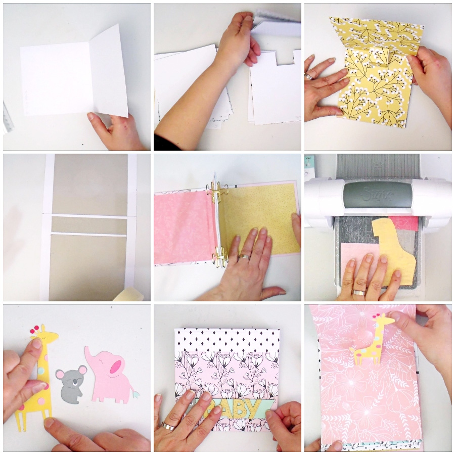 Glue Back Binding Mini Album Pop Up - VIDEO