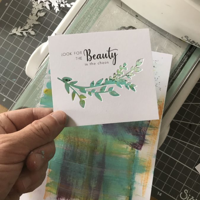 'Beauty in the chaos' card