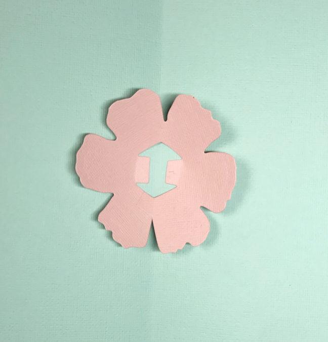 Sizzix card flower