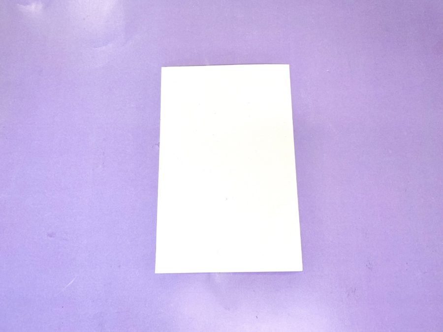 white cardstock
