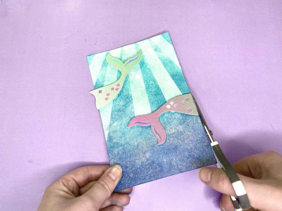 mermaid card and die set