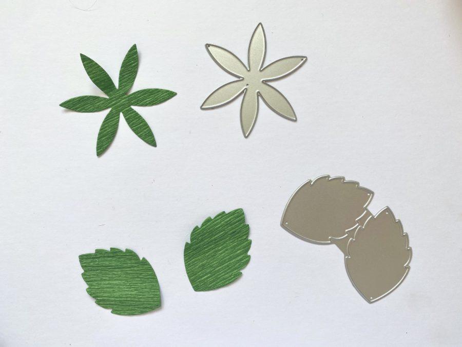 floral crepe paper