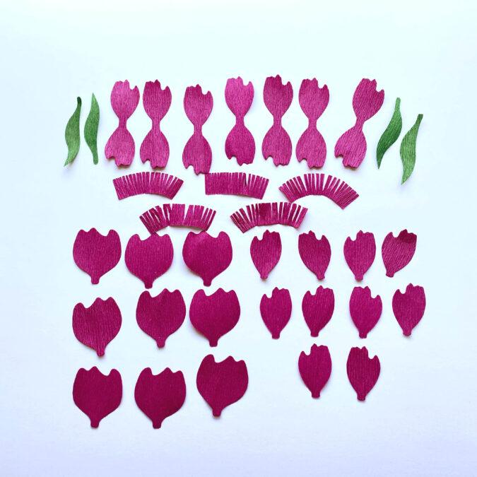 peony bouquet pieces