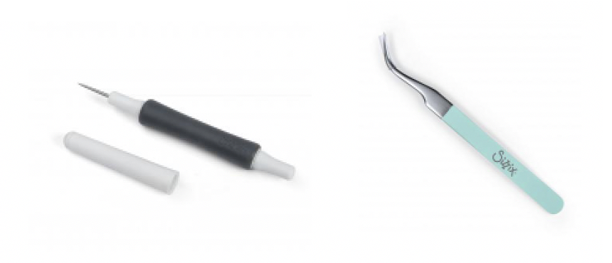 Craft Making Tools - (Left) Sizzix Die Pick and (Right) Sizzix Tweezers