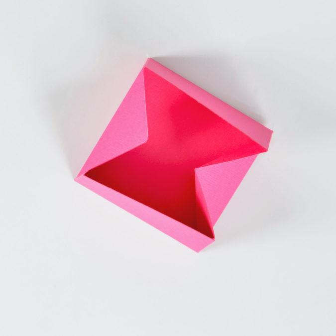 Penultimate Step of Craft Heart Box