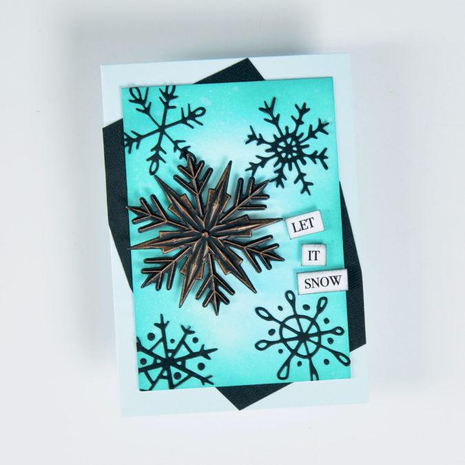 Let it Snow - Step 10. Tim Holtz Snowflake.