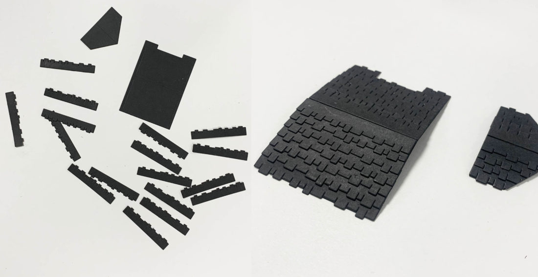 Step 4 - Craft the Roof House Tile Elements from Black Card