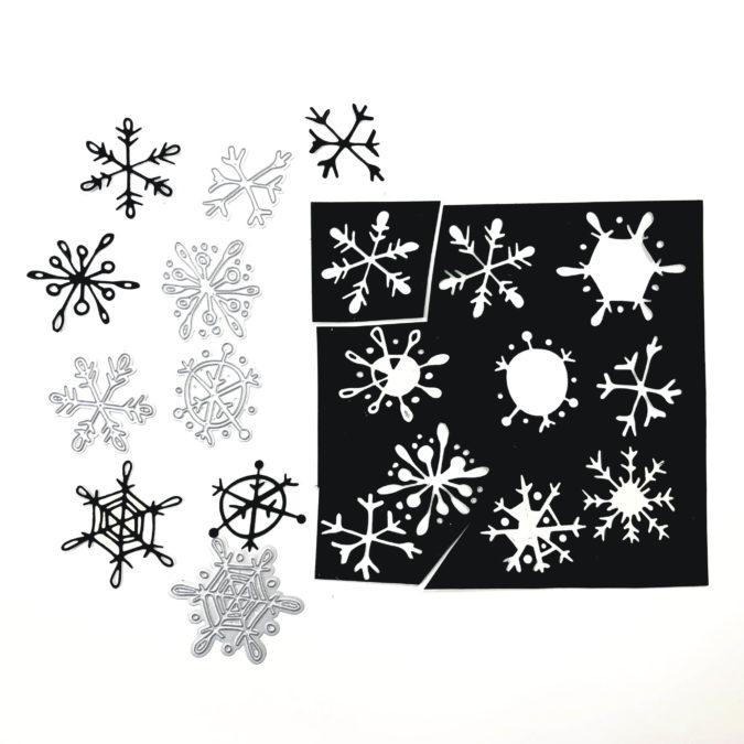 Tim Holtz - let it snow. Step 2.